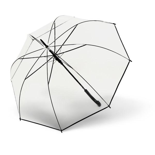 Moteriškas skėtis Derby Hit Transparent, išskleistas