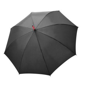 Unisex skėtis Doppler Fiber Party, su raudonais stipinais, išskleistas