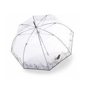 Moteriškas skaidrus skėtis Knirps Transparent Neptun lietsargio viršus
