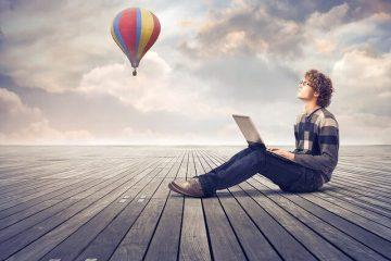 パソコンと気球