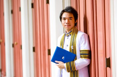 Graduation photo taken at Chulalongkorn University in Bangkok, Thailand.