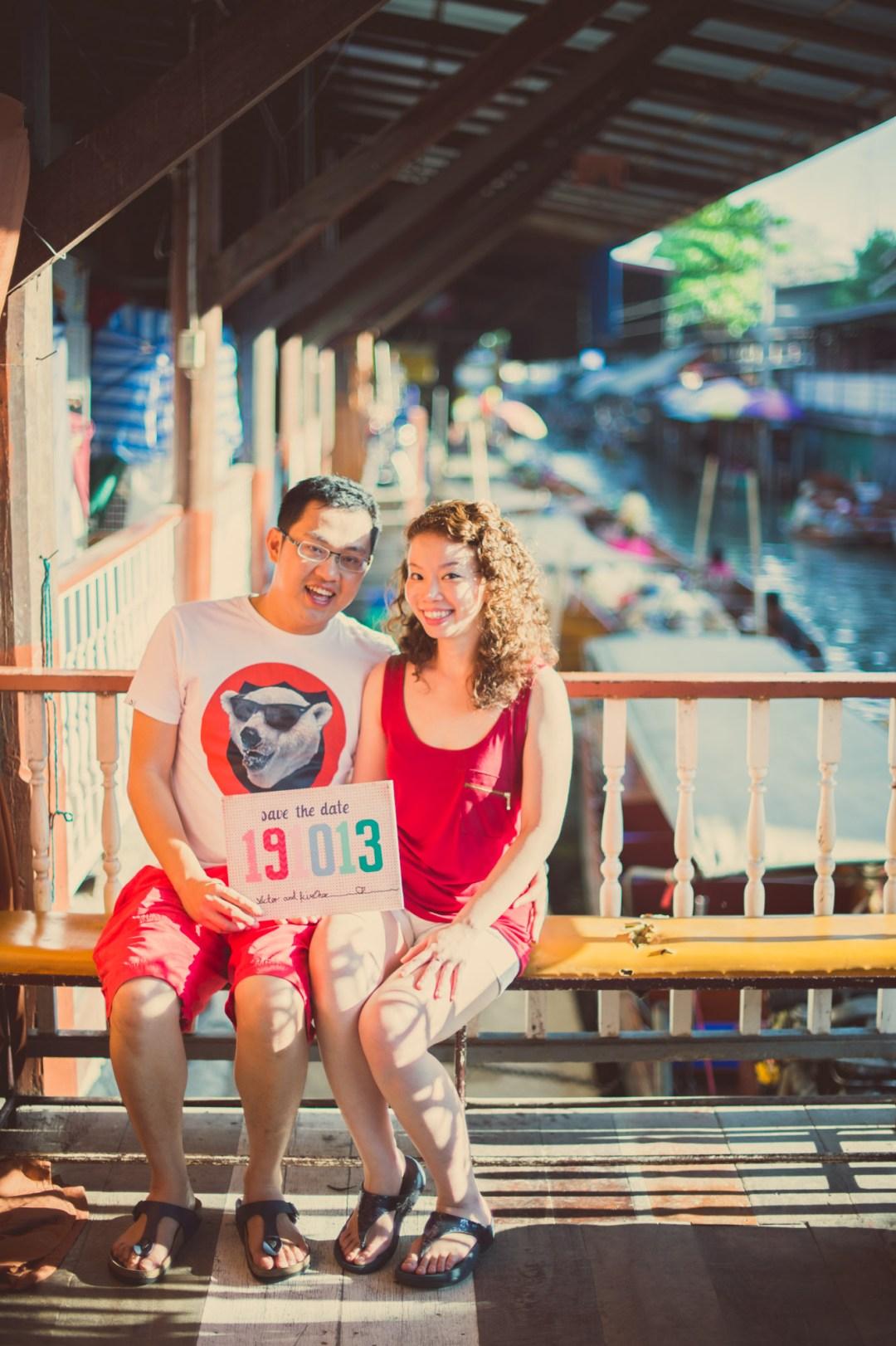 Thailand Wedding Photography | Damnoensaduak Floating Market Pre-Wedding Photography