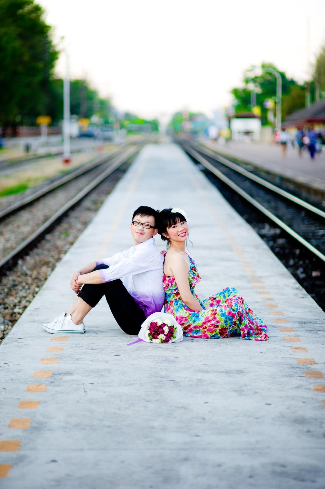 Hua Hin Wedding Photography | Hua Hin Train Station Engagement Session