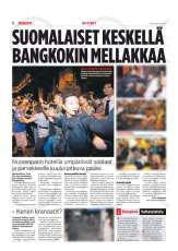 Tear Sheet from ILTALEHTI - 23 April 2010 - Story about Red Shirts Protest in Bangkok, Thailand