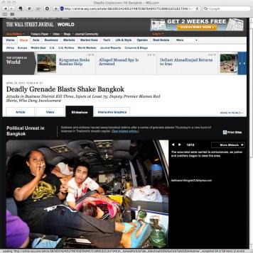 Screen capture of wsj.com (The Wall Street Journal) - 23 April 2010.