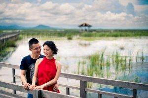 ภาพคู่แต่งงานพรีเวดดิ้งเขาสามร้อยยอด พุทธอุทยานบึงบัว สำนักสงฆ์สันติวิเวการาม หัวหิน   Khao Sam Roi Yot Hua Hin Pre-Wedding Photo