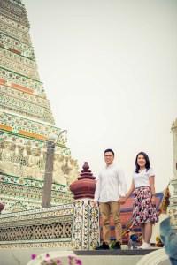Wat Arun Temple Bangkok Thailand Engaement Session
