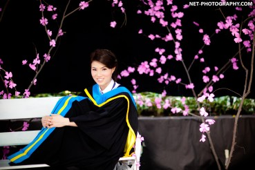 Graduation photo taken at The University of the Thai Chamber of Commerce in Bangkok, Thailand.
