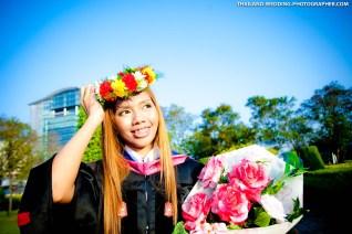 Graduation photo taken at Rangsit University in Bangkok, Thailand. ภาพถ่ายรับปริญญามหาวิทยาลัยรังสิต