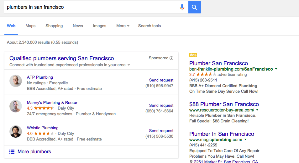 Screen Shot of search result