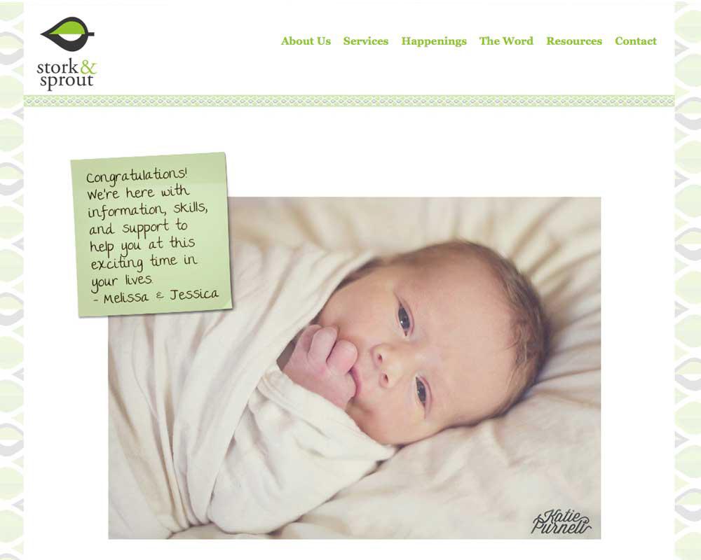 Stork & Sprout Website