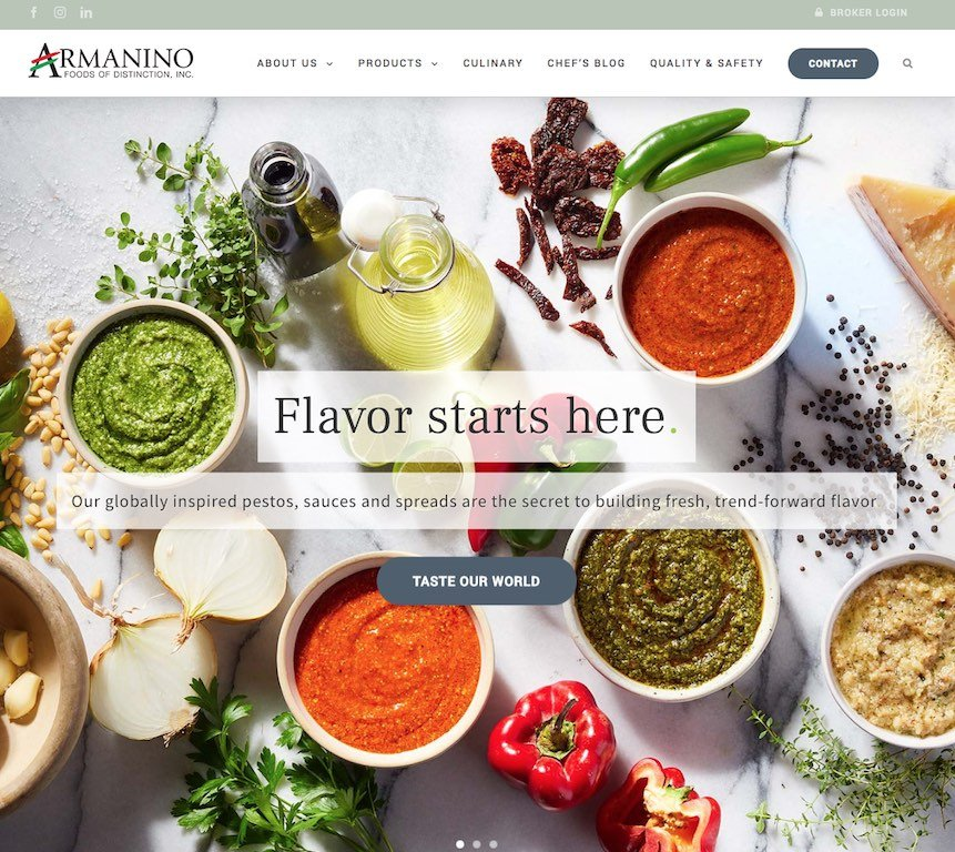 Armanino Foods Website Link