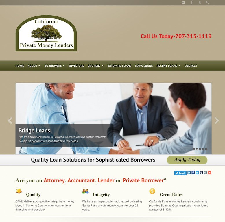 California Private Money Lenders Website