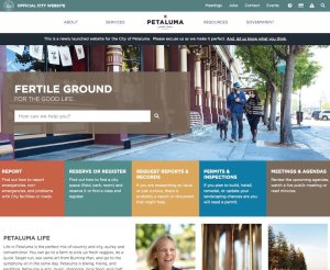 City of Petaluma Home Page
