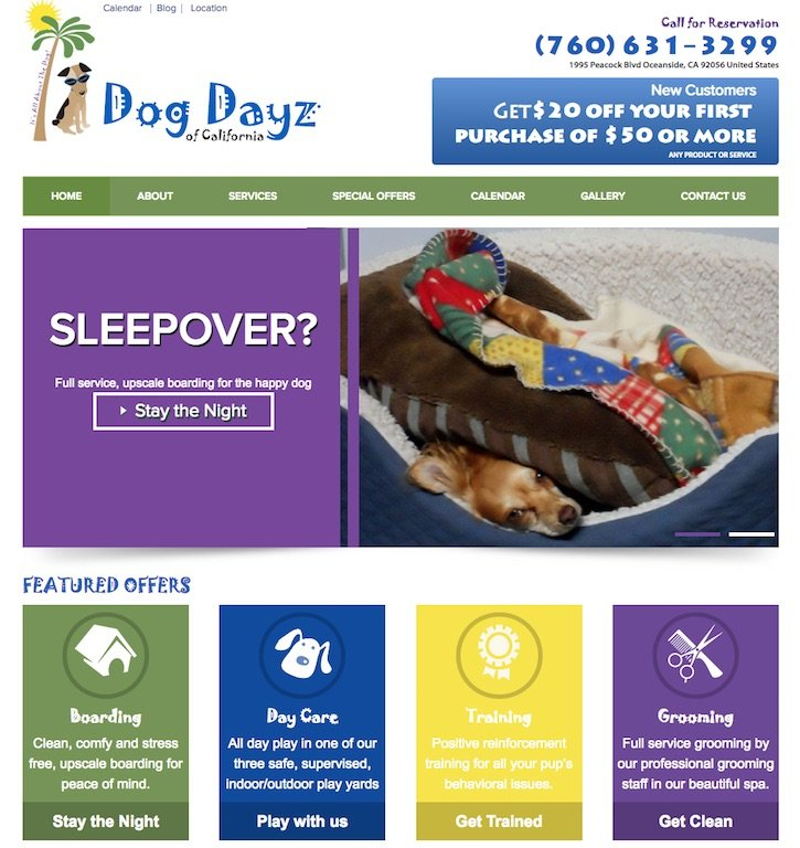 Dog Dayz of California Website