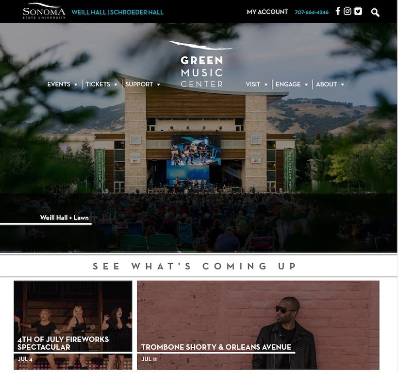 Green Music Centre Website Link