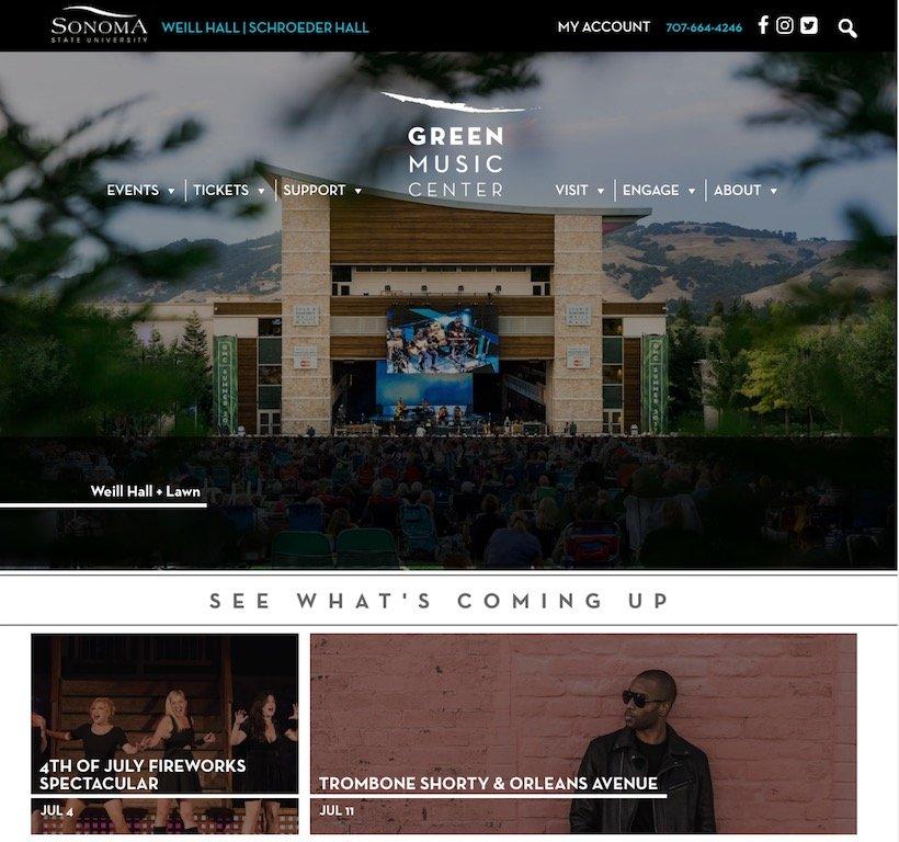 Green Music Centre Website Link