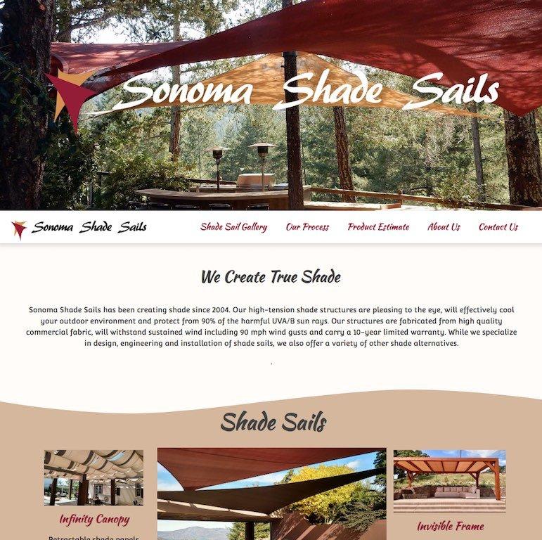 Sonoma Shade Sails Website