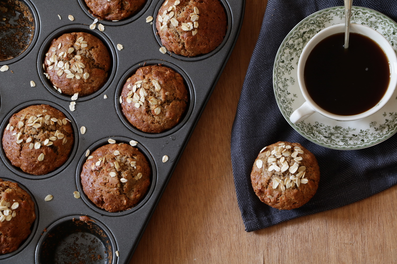 banana rye flour muffins