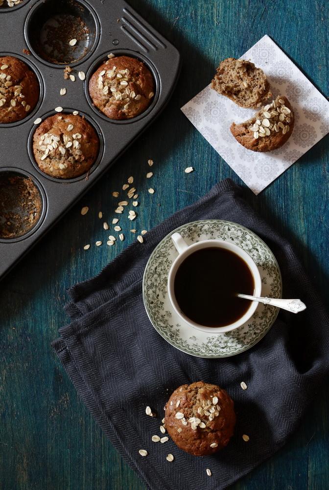 banana rye muffin