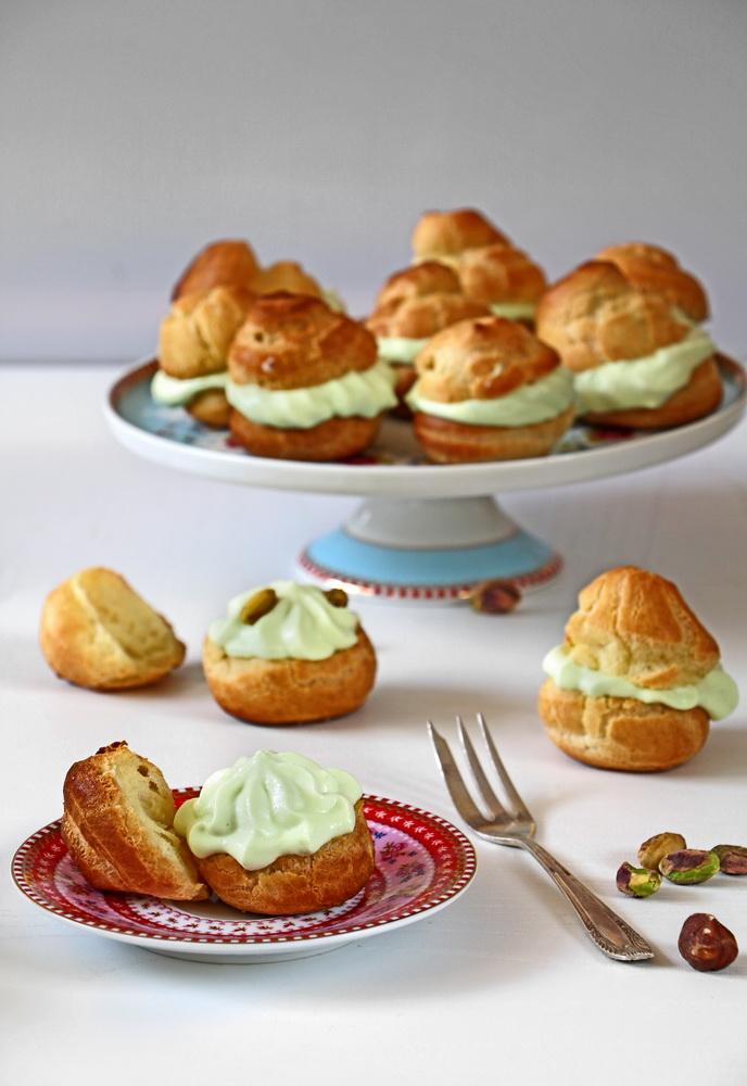 Pistachio Cream Puffs