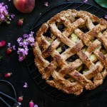 Lattice Vegan Peach and Blueberry Pie