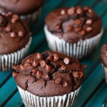 Flouerless double chocolate muffins