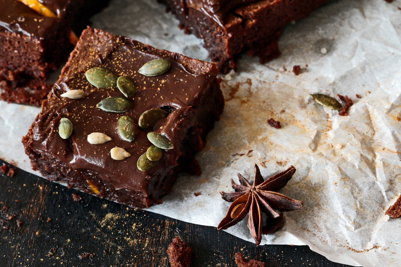 Chocolate Spices & Sea Salt Brownies