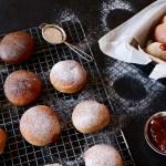 Baked Whole Wheat Jelly Doughnut or Sufganiyot Recipe