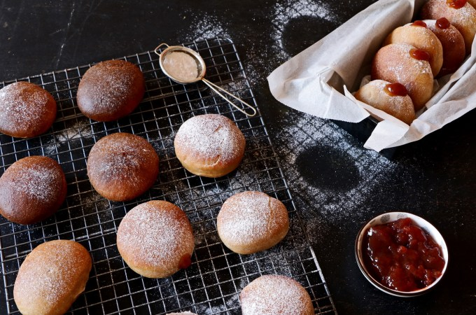 Baked Whole Wheat Jelly Doughnut or Sufganiyot Recipe