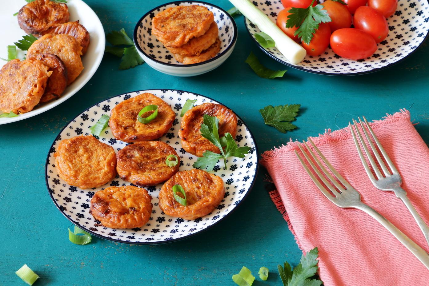 vegan sweet potato fritters