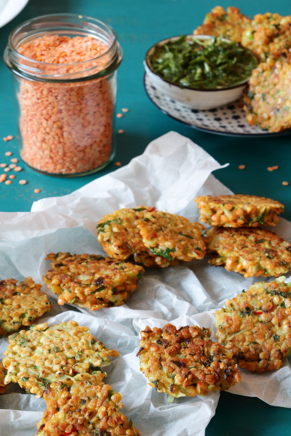 Indian Style Red lentil fritters, by Neta Cooks