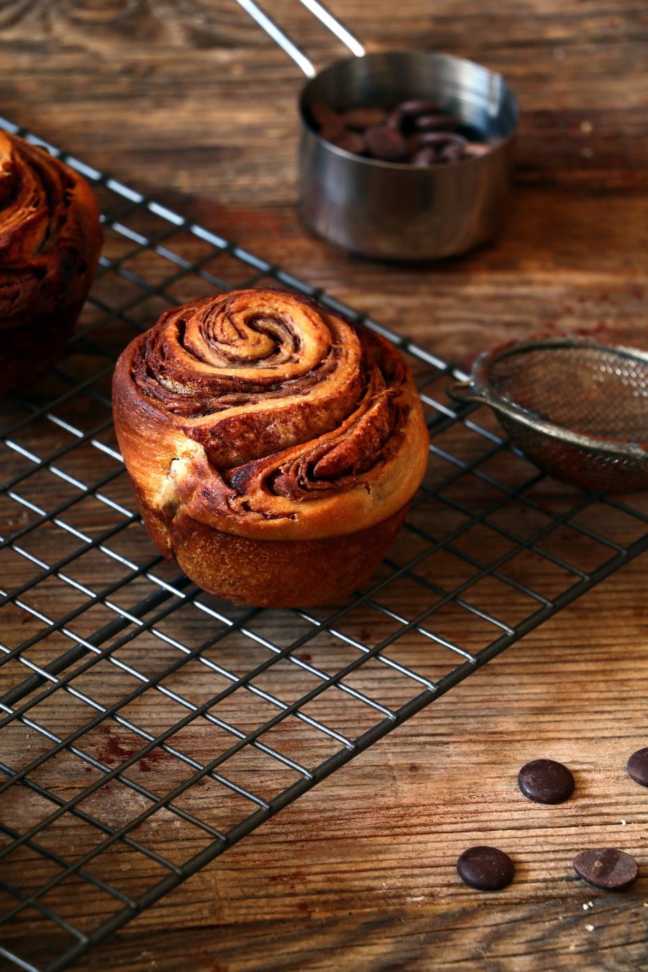 Vegan Chocolate Brioche Muffins