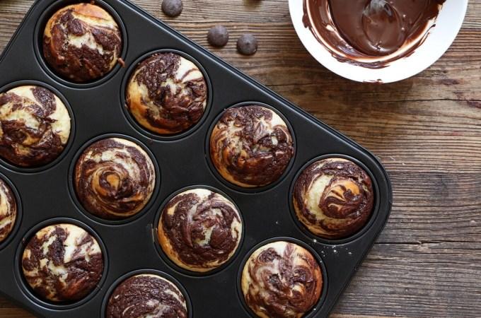 Chocolate Vanilla Swirl Muffins
