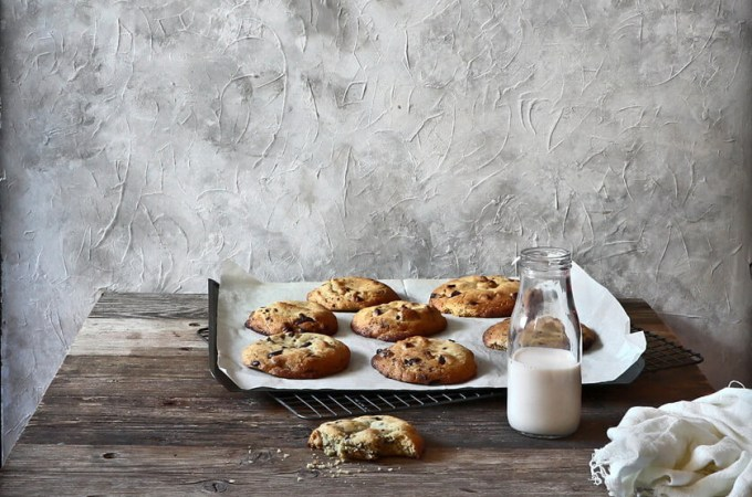 Olive oil chocolate chip & peanut butter cookies