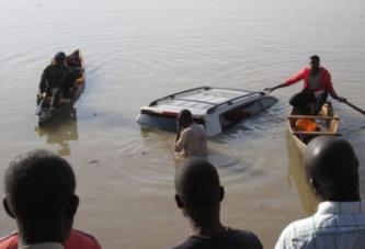 BARRAGE N°1 DE TANGHIN :Un véhicule finit sa course dans l'eau