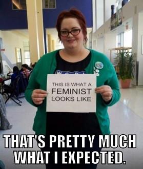 Le physique typique de la féministe