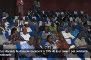 Les députés burkinabè renoncent à 19% de leur salaire par solidarité nationale