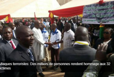 Attaques terroristes: Des milliers de personnes rendent hommage aux 32 victimes