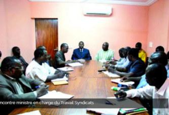 Rencontre ministre en charge du Travail Syndicats