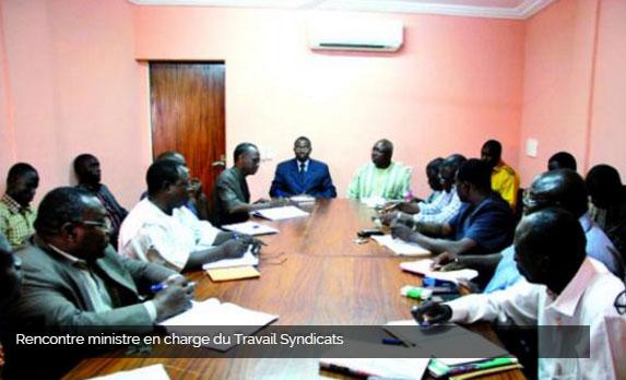 Rencontre gouvernement syndicat burkina 2016