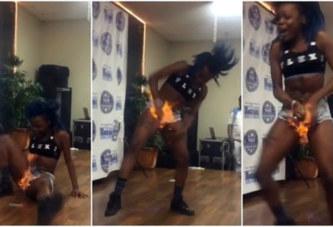 Son entrejambe prend feu en plein concours de danse !