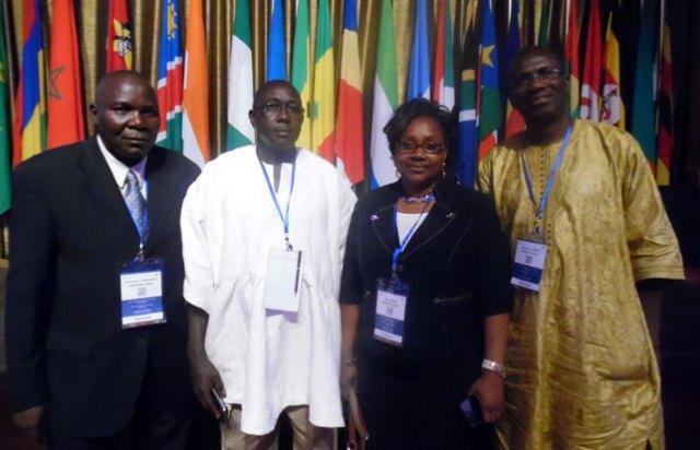 1-Les experts burkinabè : Alexandre Sawadogo (ministère des Ressources animales), Dr Amadou Sidibé (SP/CPSA), Alice Sidibé née Anago (vice-représentante du Burkina Faso à la FAO) et Mamadou Onadja (ministère de l'Environnement).