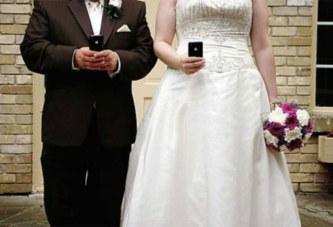 il demande le divorce parce que sa femme a passé la nuit de noces sur son téléphone