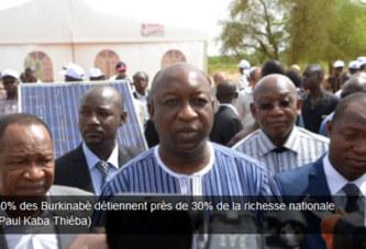 10% des Burkinabè détiennent près de 30% de la richesse nationale (Paul Kaba Thiéba)