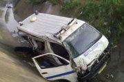 Adjamé: Une ambulance termine sa course dans un caniveau avec une femme enceinte