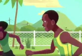 Vidéo: Le dessin animé qui retrace la vie de Usain Bolt