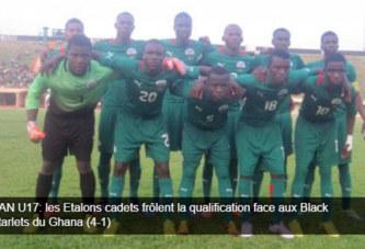 CAN U17: les Etalons cadets frôlent la qualification face aux Black Starlets du Ghana (4-1)