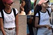 """Après avoir fumé Malia Obama revient avec un T-shirt """"Fumer tue""""…Vidéo"""
