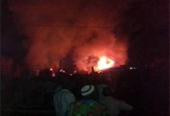 Incendie à Koudougou, des millions de francs partis dans les flammes (correspondant)